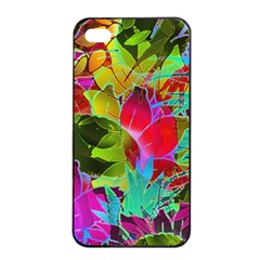 Floral Abstract 1 Apple Iphone 4/4s Seamless Case (black) by MedusArt