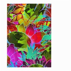 Floral Abstract 1 Small Garden Flag (two Sides) by MedusArt