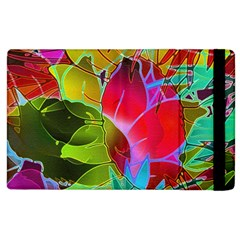 Floral Abstract 1 Apple Ipad 2 Flip Case by MedusArt