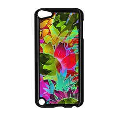 Floral Abstract 1 Apple Ipod Touch 5 Case (black) by MedusArt