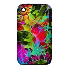 Floral Abstract 1 Apple Iphone 3g/3gs Hardshell Case (pc+silicone) by MedusArt