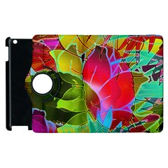 Floral Abstract 1 Apple Ipad 3/4 Flip 360 Case by MedusArt