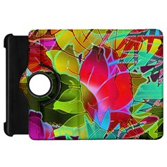 Floral Abstract 1 Kindle Fire Hd Flip 360 Case by MedusArt