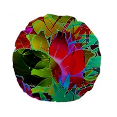 Floral Abstract 1 Standard 15  Premium Round Cushions by MedusArt