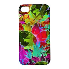 Floral Abstract 1 Apple Iphone 4/4s Hardshell Case With Stand by MedusArt