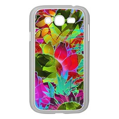 Floral Abstract 1 Samsung Galaxy Grand Duos I9082 Case (white) by MedusArt