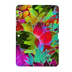Floral Abstract 1 Samsung Galaxy Tab 2 (10 1 ) P5100 Hardshell Case  by MedusArt