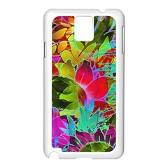 Floral Abstract 1 Samsung Galaxy Note 3 N9005 Case (white) by MedusArt