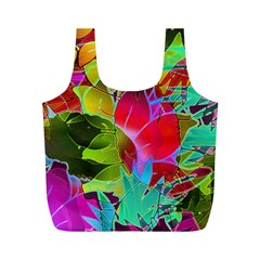 Floral Abstract 1 Full Print Recycle Bags (m)  by MedusArt