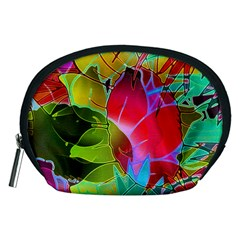 Floral Abstract 1 Accessory Pouches (medium)  by MedusArt