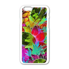 Floral Abstract 1 Apple Iphone 6/6s White Enamel Case by MedusArt