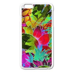 Floral Abstract 1 Apple Iphone 6 Plus/6s Plus Enamel White Case by MedusArt