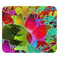Floral Abstract 1 Double Sided Flano Blanket (small)  by MedusArt