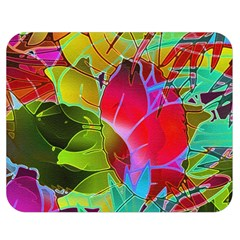 Floral Abstract 1 Double Sided Flano Blanket (medium)  by MedusArt