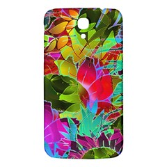 Floral Abstract 1 Samsung Galaxy Mega I9200 Hardshell Back Case by MedusArt