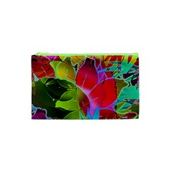 Floral Abstract 1 Cosmetic Bag (xs) by MedusArt