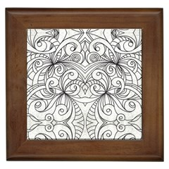 Drawing Floral Doodle 1 Framed Tiles by MedusArt