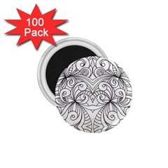 Drawing Floral Doodle 1 1 75  Magnets (100 Pack)  by MedusArt