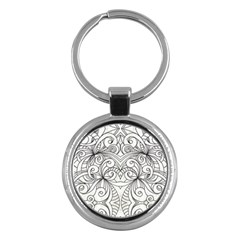 Drawing Floral Doodle 1 Key Chains (round)  by MedusArt