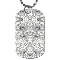 Drawing Floral Doodle 1 Dog Tag (one Side) by MedusArt