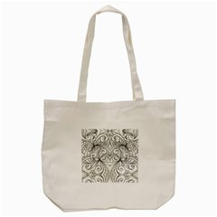 Drawing Floral Doodle 1 Tote Bag (cream)  by MedusArt