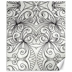 Drawing Floral Doodle 1 Canvas 8  X 10  by MedusArt