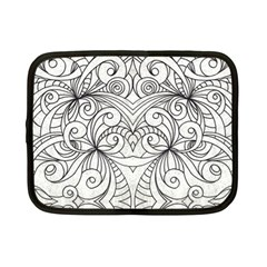 Drawing Floral Doodle 1 Netbook Case (small)  by MedusArt