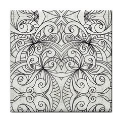 Drawing Floral Doodle 1 Face Towel by MedusArt
