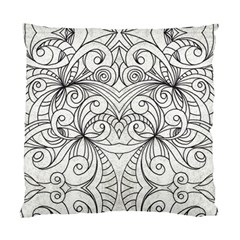 Drawing Floral Doodle 1 Standard Cushion Case (one Side)  by MedusArt