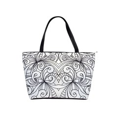 Drawing Floral Doodle 1 Shoulder Handbags by MedusArt