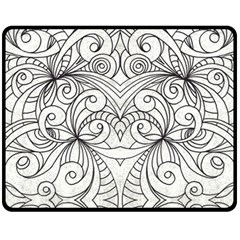 Drawing Floral Doodle 1 Fleece Blanket (medium)  by MedusArt