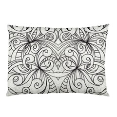 Drawing Floral Doodle 1 Pillow Cases (two Sides) by MedusArt