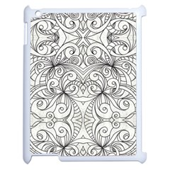 Drawing Floral Doodle 1 Apple Ipad 2 Case (white) by MedusArt
