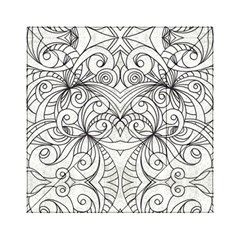Drawing Floral Doodle 1 Acrylic Tangram Puzzle (6  X 6 ) by MedusArt