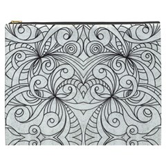 Drawing Floral Doodle 1 Cosmetic Bag (xxxl)  by MedusArt