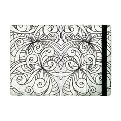 Drawing Floral Doodle 1 Apple Ipad Mini Flip Case by MedusArt