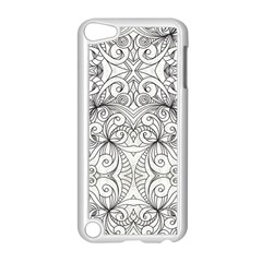 Drawing Floral Doodle 1 Apple Ipod Touch 5 Case (white) by MedusArt