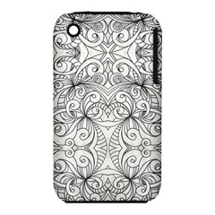 Drawing Floral Doodle 1 Apple Iphone 3g/3gs Hardshell Case (pc+silicone) by MedusArt
