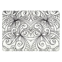 Drawing Floral Doodle 1 Samsung Galaxy Tab 10 1  P7500 Flip Case by MedusArt