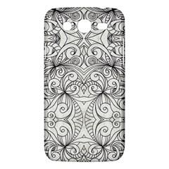 Drawing Floral Doodle 1 Samsung Galaxy Mega 5 8 I9152 Hardshell Case  by MedusArt