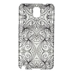 Drawing Floral Doodle 1 Samsung Galaxy Note 3 N9005 Hardshell Case by MedusArt