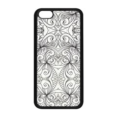 Drawing Floral Doodle 1 Apple Iphone 5c Seamless Case (black) by MedusArt