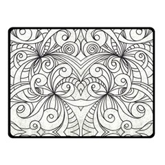 Drawing Floral Doodle 1 Double Sided Fleece Blanket (small)  by MedusArt