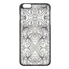 Drawing Floral Doodle 1 Apple Iphone 6 Plus/6s Plus Black Enamel Case by MedusArt