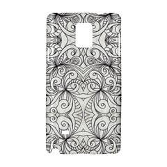 Drawing Floral Doodle 1 Samsung Galaxy Note 4 Hardshell Case by MedusArt