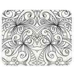 Drawing Floral Doodle 1 Double Sided Flano Blanket (medium)  by MedusArt