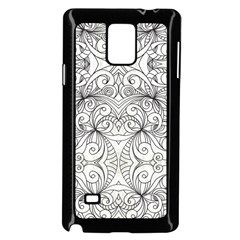 Drawing Floral Doodle 1 Samsung Galaxy Note 4 Case (black) by MedusArt