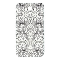 Drawing Floral Doodle 1 Samsung Galaxy Mega I9200 Hardshell Back Case by MedusArt