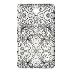 Drawing Floral Doodle 1 Samsung Galaxy Tab 4 (7 ) Hardshell Case  by MedusArt