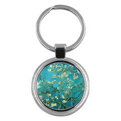 Blossoming Almond Tree Key Chains (round)  by MasterpiecesOfArt